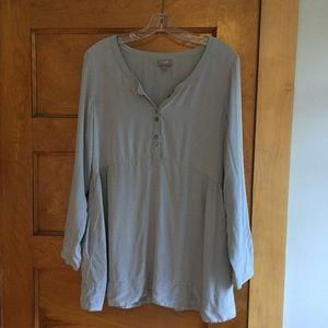 J Jill 100% silk Gray Pocket Tunic.          F026
